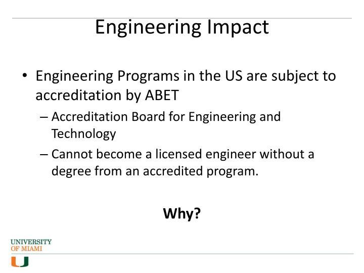 Engineering impact