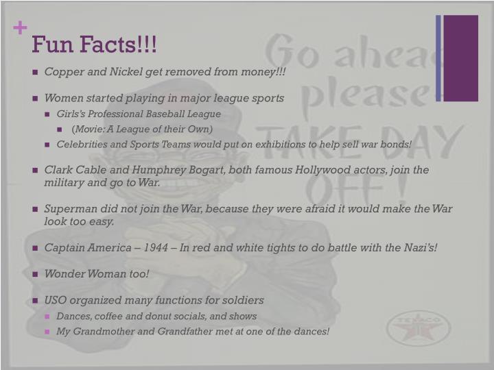 Fun Facts!!!