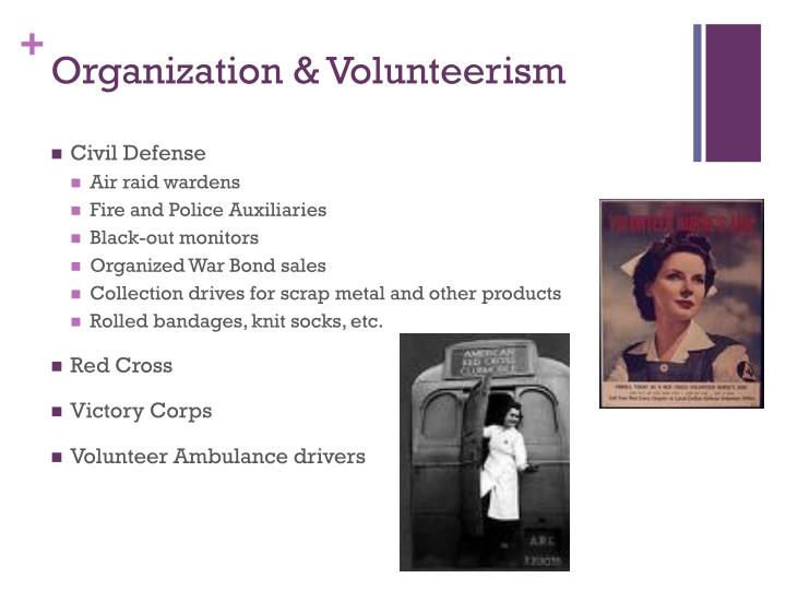 Organization & Volunteerism