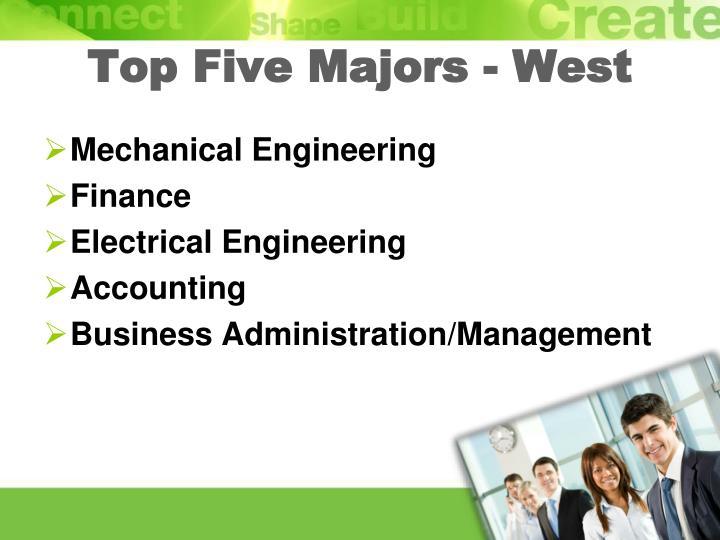 Top Five Majors - West
