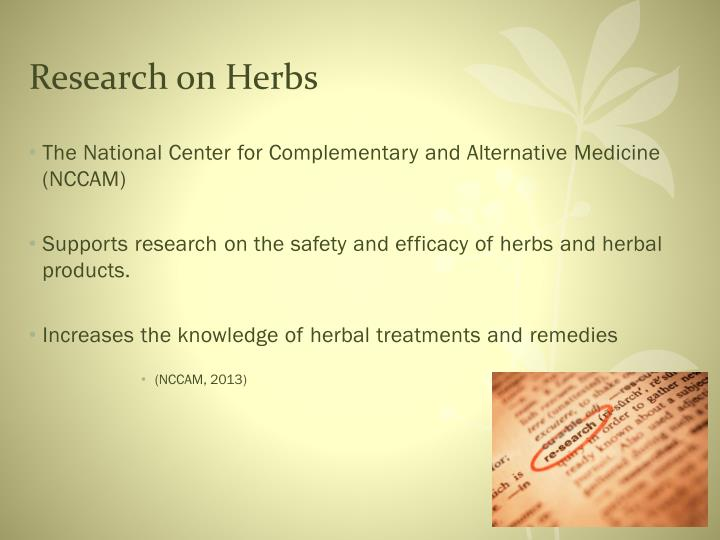 Research on Herbs