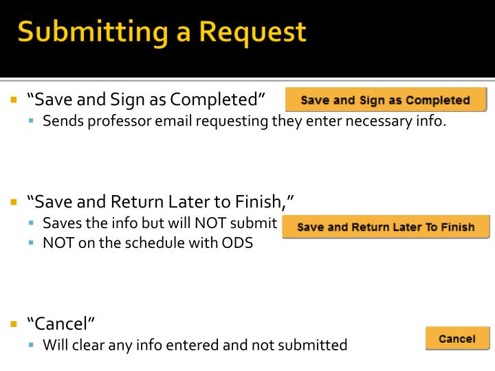 Submitting a Request