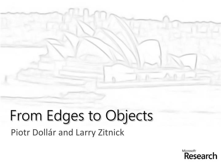 from edges to objects n.