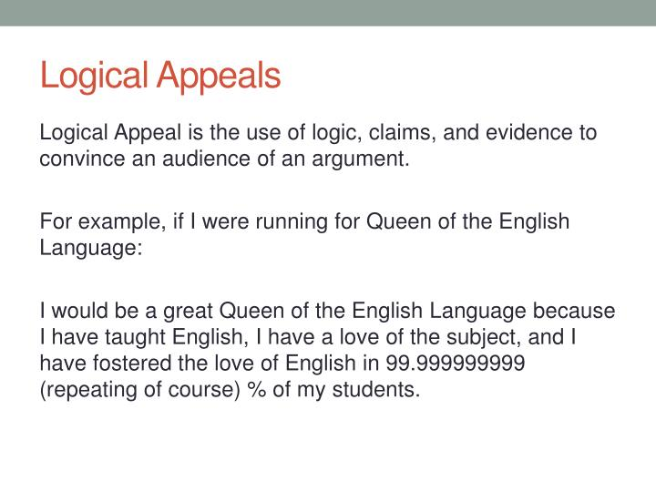 Ppt Logical Emotional And Ethical Appeals Powerpoint