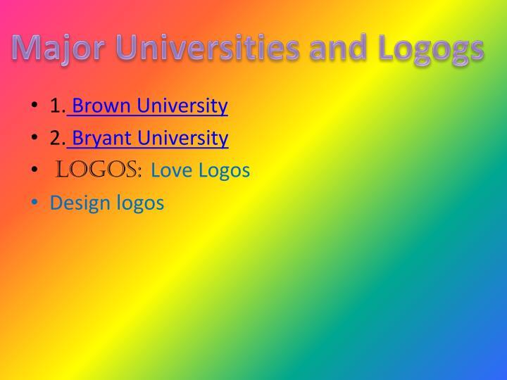 Major Universities and