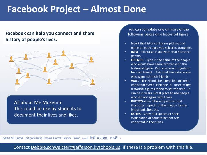 Facebook Project