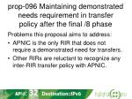prop 096 maintaining demonstrated needs requirement in transfer policy after the final 8 phase