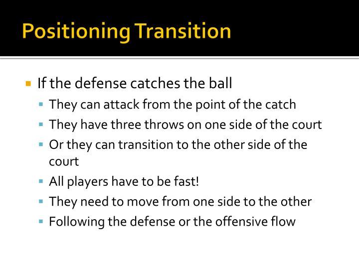 Positioning Transition