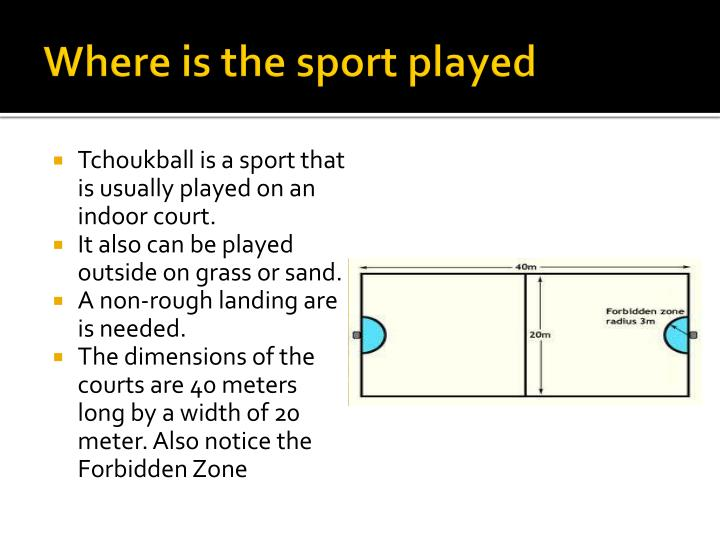 Where is the sport played