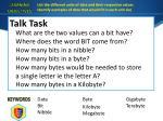 talk task