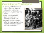 casablanca conference