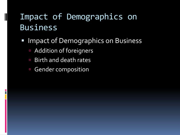 Impact of Demographics on Business