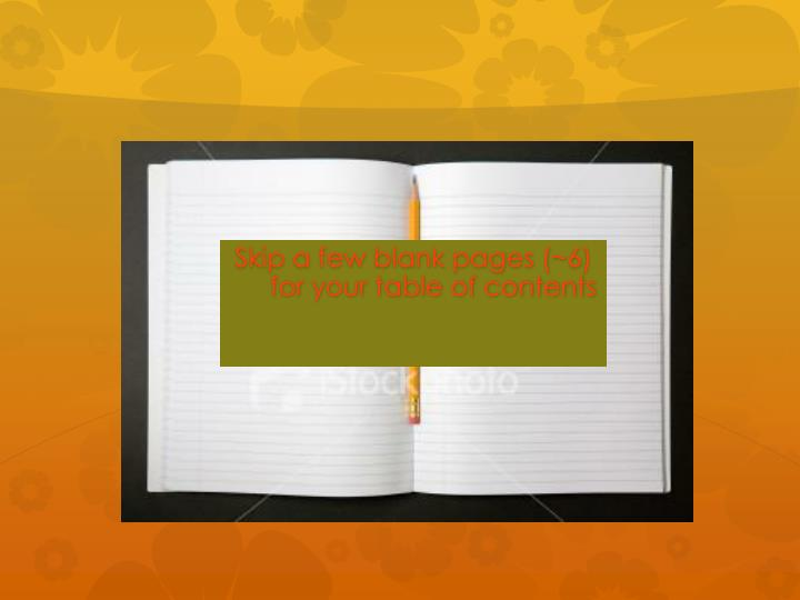 Skip a few blank pages (