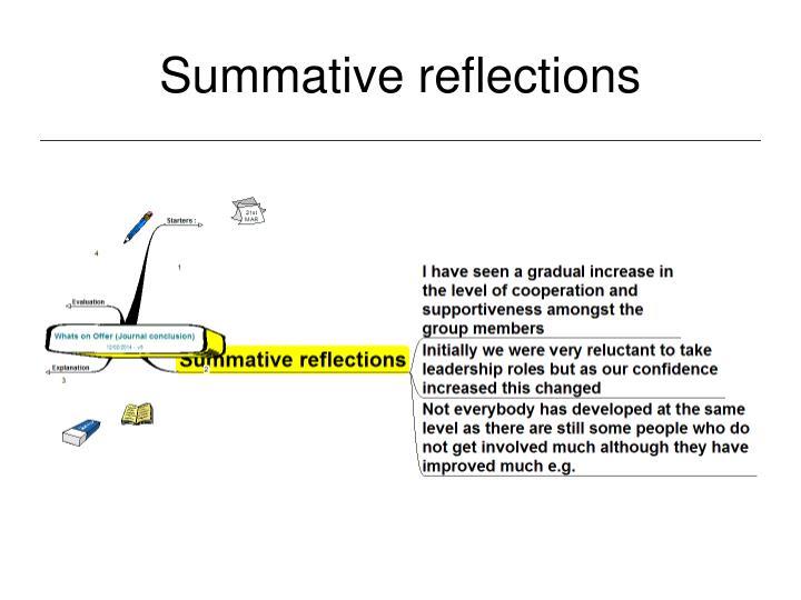 Summative reflections