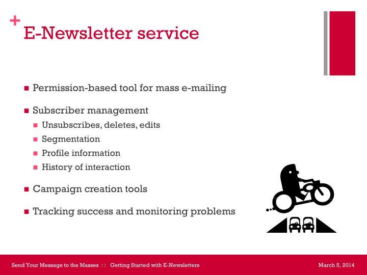 E-Newsletter service