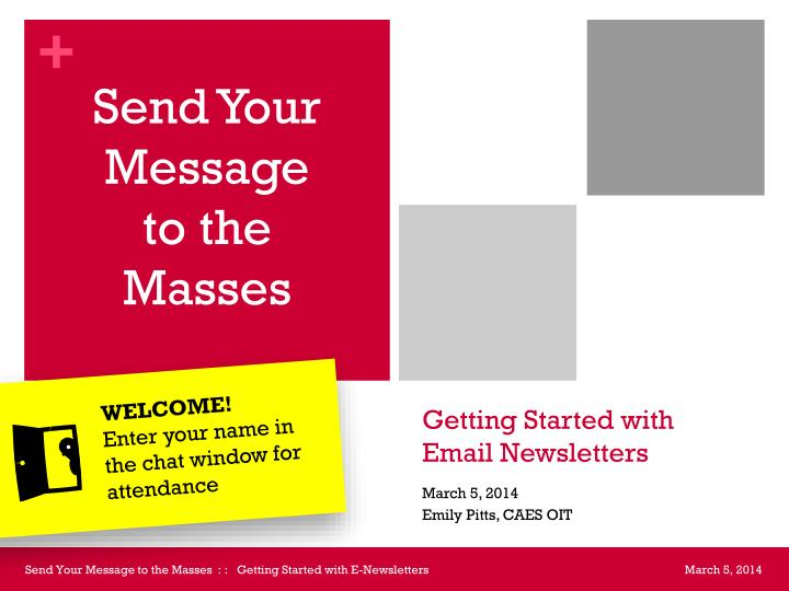 Getting started with email newsletters