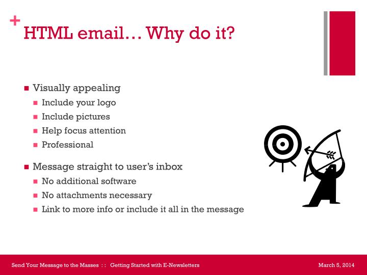 HTML email… Why do it?