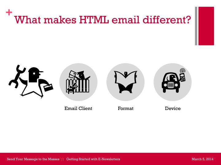 What makes HTML email different?
