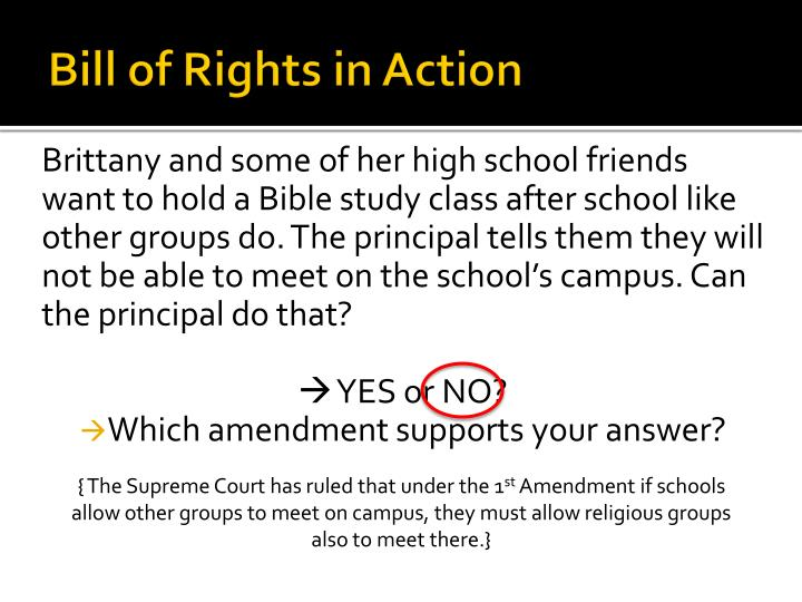 Bill of Rights in Action