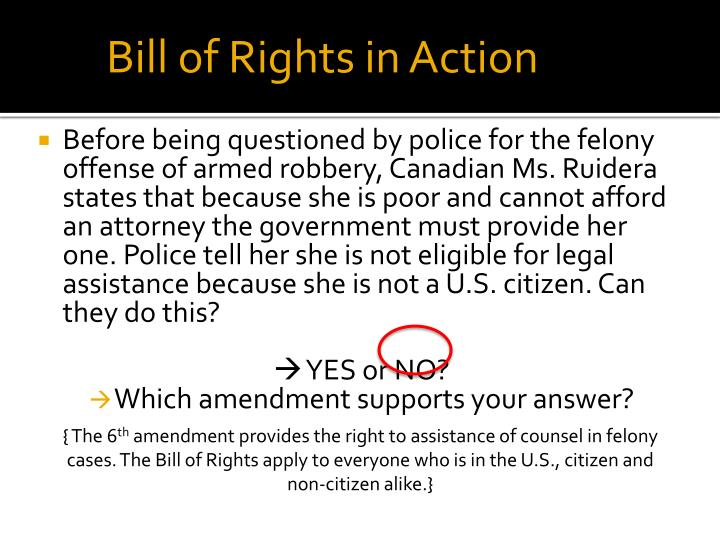 The Bill of Rights Review