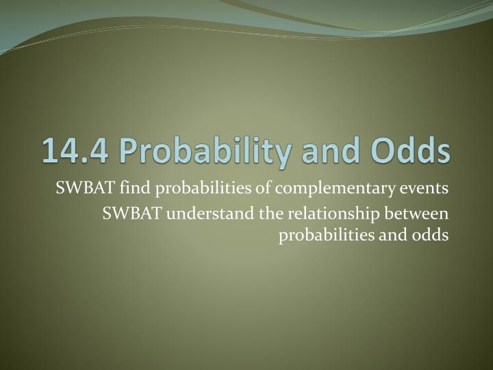 14 4 probability and odds