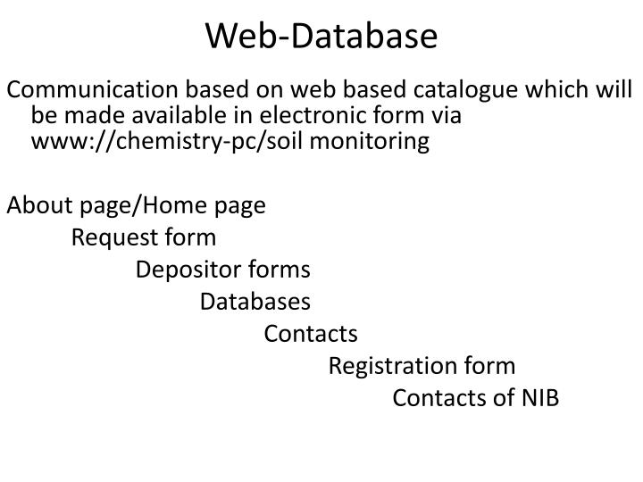 Web-Database