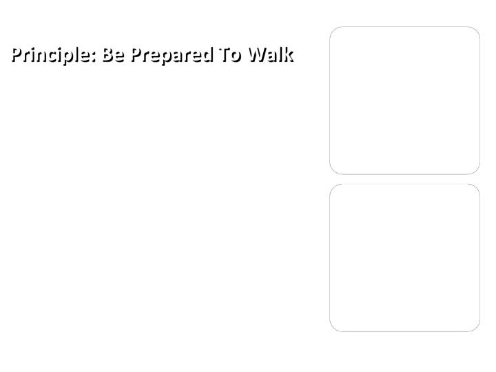 Principle: Be Prepared To Walk