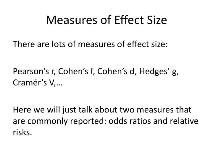 Measures of Effect Size