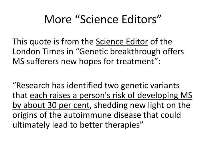 "More ""Science Editors"""
