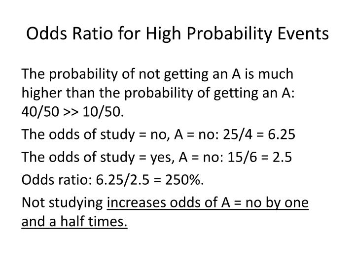 Odds Ratio for High Probability Events
