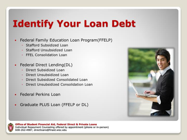 Identify your loan debt