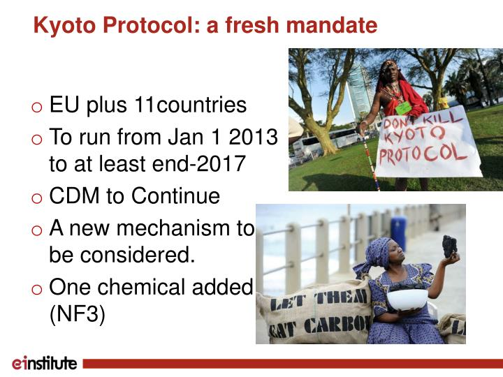Kyoto Protocol: a fresh mandate