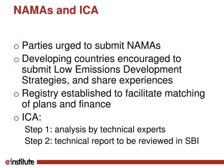 NAMAs and ICA
