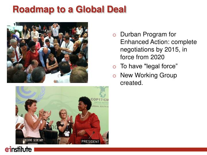 Roadmap to a global deal