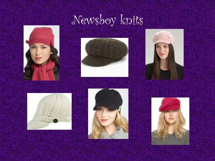 Newsboy knits