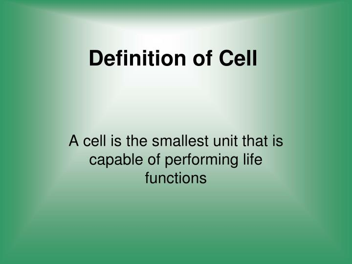 Definition of Cell