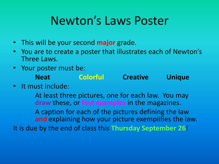 newton s laws poster n.