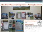 hsu natural resources interpretation planning department