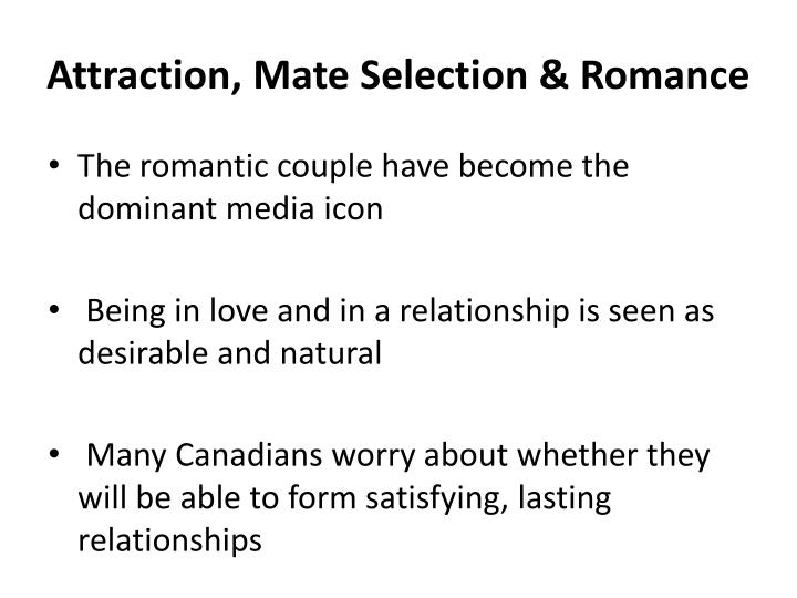 Attraction mate selection romance