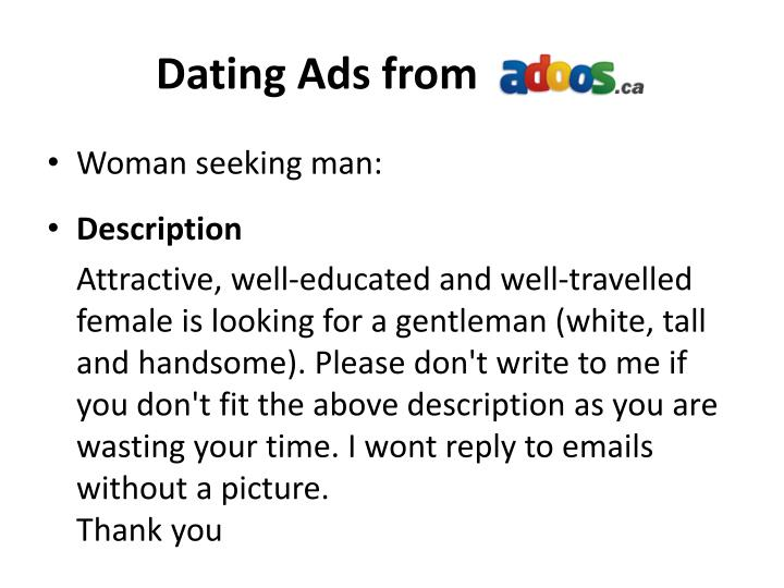 Dating Ads from