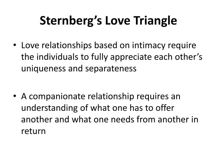 Sternberg's Love Triangle