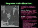 response to the new deal4