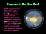 response to the new deal6