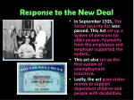 response to the new deal7