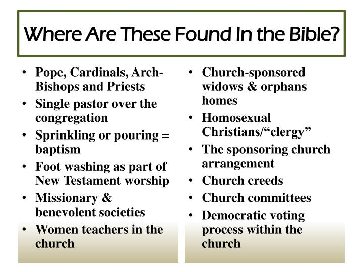 Where Are These Found In the Bible?