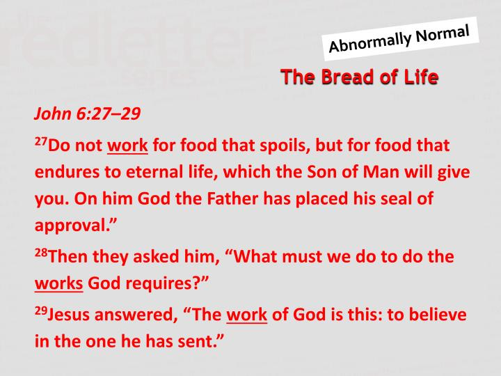 John 6:27–29