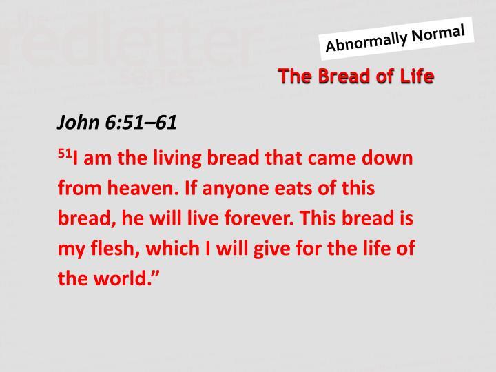 John 6:51–61