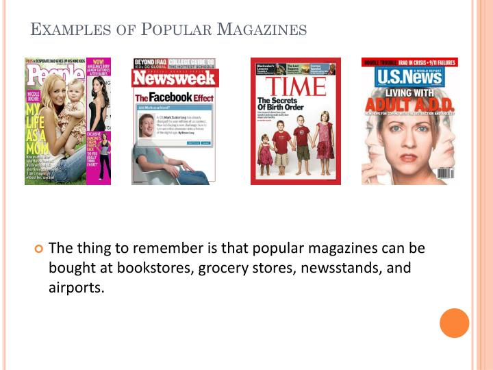 Examples of Popular Magazines