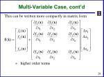 multi variable case cont d1