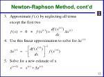 newton raphson method cont d